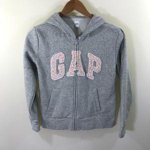 GAP Gray Sparkle Hoodie Size Kids XXL 14/16